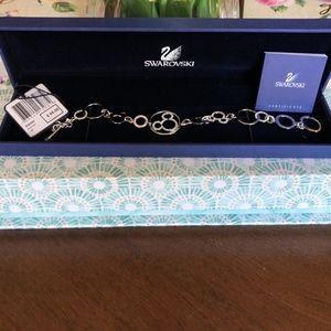 NWT Swarovski Crystal Mickey Toggle Bracelet & Box